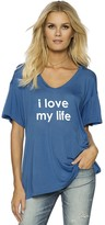 Peace Love World I Love My Life Oversized Mia V Tee