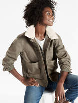 Lucky Brand Sherpa Collar Military Jacket