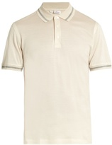 Brioni Fantasy Cotton And Silk-blend Polo Shirt