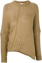 Stella McCartney rib knit jumper - women - Linen/Flax - 38