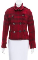 Burberry Wool Double-Breasted Short Coat