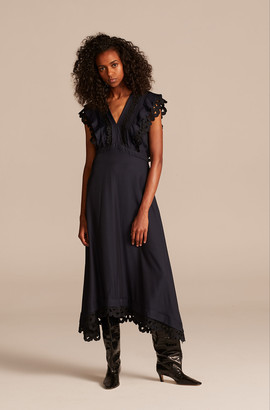 Rebecca Taylor Embroidered Silk Dress