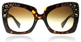 Versace Ornate Oversize Geometric Sunglasses in Havana VE4308B 108/13