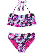 Roxy 2-Pc. Resort Retreat Ruffle Bikini, Girls (7-16)