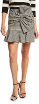 Veronica Beard Picnic Bow Mini Skirt, Black/White