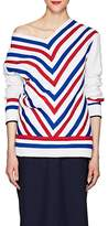 Y/Project Women's Striped Cotton-Blend Tiered Sweater