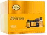 The Art of Shaving The 4 Elements of The Perfect Shave Kit - Lemon by for Men - 4 Pc Kit 2oz Pre-Shave Oil, 5oz Shaving Cream , 3.3oz After-Shave Balm , Pure Badger Black Shaving Brush