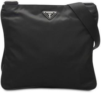 Prada Pre-Owned Triangle Logo Crossbody Bag