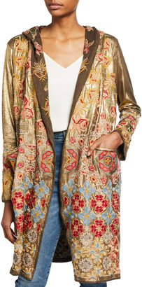 Johnny Was Boni Embroidered Metallic Duster