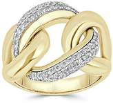 Saks Fifth Avenue Women's Diamond and 14K Yellow Gold Link Ring