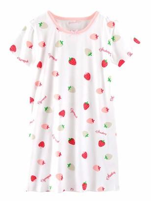 Abclothing Baby Girls' Nightdress Cotton Princess Nighty Pyjamas 3 4 Years Red