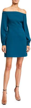 Jill Stuart Long-Sleeve Off-the-Shoulder Dress