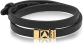 Northskull Insignia Black and Gold Double Wrap Bracelet