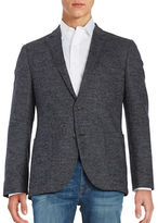 Black Brown 1826 Marled Wool Blazer