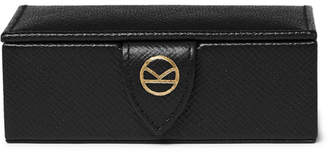 Kingsman + Smythson Panama Cross-Grain Leather Cufflink Box