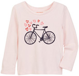 Joe Fresh Long Sleeve Graphic Print Tee (Toddler & Little Girls)