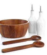The Cellar Acacia Wood 5 Piece Salad Set, Created for Macy's