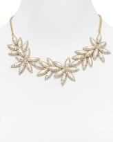 """Aqua Floral Bib Necklace, 18"""""""