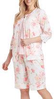 Carole Hochman Lightweight Jersey Bermuda 3-Piece Pajama Set