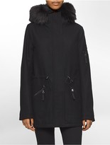 Calvin Klein Faux Fur Hooded Jacket