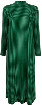 Ganni Gingham Mid-Length Dress