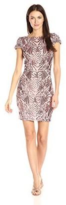 Dress the Population Women's Tabitha Cap Sleeve Sequin Mini Dress