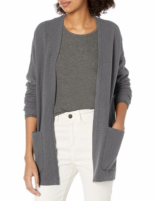 Daily Ritual Amazon Brand Women's Ultra-Soft Milano Stitch Patch Pocket Long Cardigan Sweater