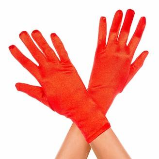 Music Legs Women's Wrist Length Satin Gloves