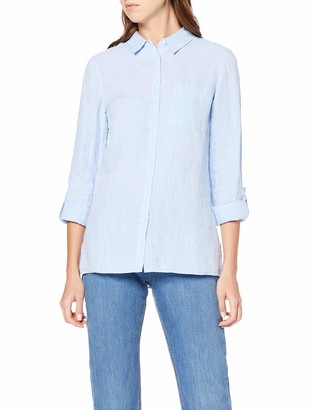 Meraki Amazon Brand Women's Long Sleeve Linen Shirt