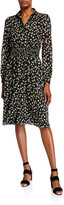MICHAEL Michael Kors Tossed Lilies Button-Front Dress