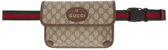 Gucci Brown and Beige Vintage GG Belt Bag