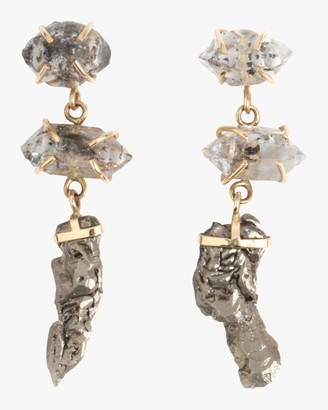 Melissa Joy Manning Crystal Three Drop Earrings