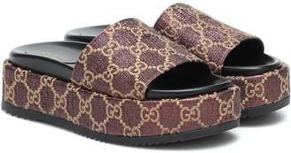 Gucci GG-jacquard slides