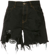 Faith Connexion destroyed denim shorts - women - Cotton - M
