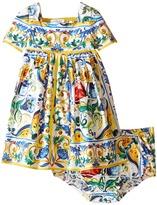 Dolce & Gabbana Escape Maiolica Ornamental Dress (Infant)