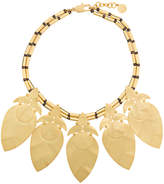 Tory Burch hammered leaf necklace