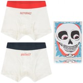 Boys White Weekend Boxer Shorts Set (2 Pack)
