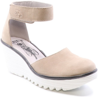 Fly London Yand Leather Wedge Sandal