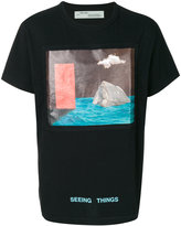 Off-White painting print T-shirt - men - Cotton - M