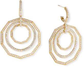 David Yurman Stax 18k Yellow Gold Diamond Extra-Large Drop Earrings
