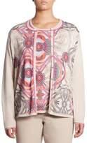 Basler, Plus Size Regular-Fit Paisley Print Wool Cardigan
