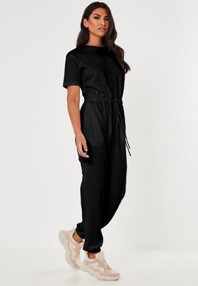 Missguided Crew Neck Jogger Playsuit