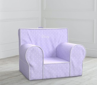 Pottery Barn Kids Lavender Pin Dot Anywhere Chair