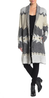 Joseph A Shawl Collar Snap Front Long Cardigan