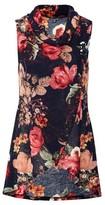 Dorothy Perkins Womens Izabel London Navy Floral Print Wrap Top