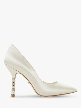 Dune Bridal Collection Bonds Embellished Stiletto Heel Court Shoes, Ivory