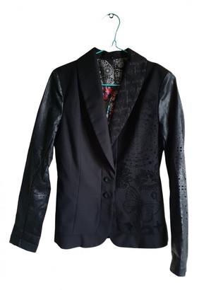 Desigual Black Synthetic Jackets