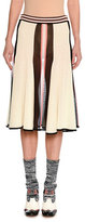 Missoni Colorblock Flared Midi Skirt, White