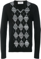 Pringle argyle V-neck jumper