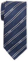 Moschino Blue Ribbon-Stripe Tie